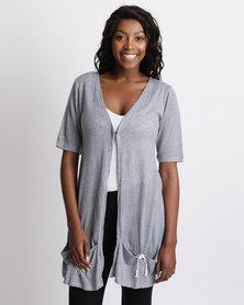 UB Creative Knit Jacket Pockets Grey