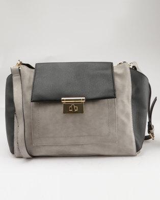 New Look Ellie Slouchy Hobo Bag Grey