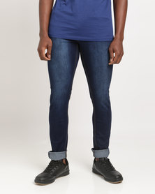Soviet Men's Zeff #4 Basic Skinny Denim Jeans Blue