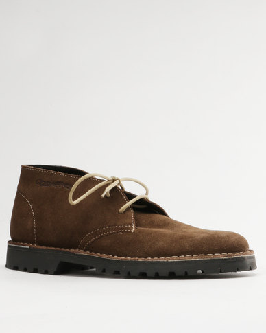Grasshoppers Gina Suede Casual Lace Up Boot Coffee