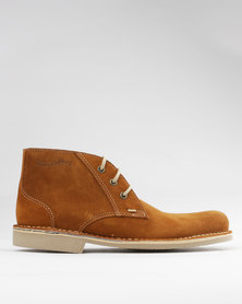 Grasshoppers Kyle Suede Casual Lace Up Boots Biscuit