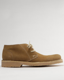 Grasshoppers Hudson Suede Casual Lace Up Ankle Boots Mushroom