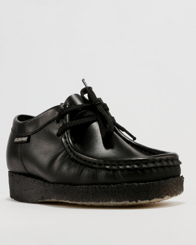 Grasshoppers Boys Basic Moccasin School Shoe Black