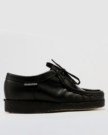 Grasshoppers Boys Basic Moccasin School Shoe Black
