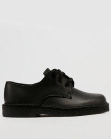 Grasshoppers Boys Lace Up School Shoe Black