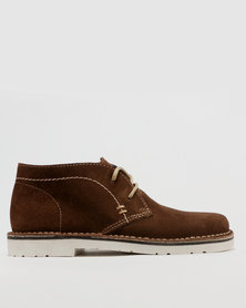 Grasshoppers Ben Lace Up Shoe Coffee
