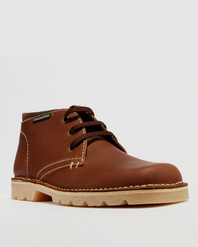 Grasshoppers Sahara Leather Casual Lace Up Boot Oatmeal