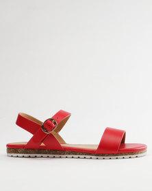 Pierre Cardin Ladies Sandals Comfort Red