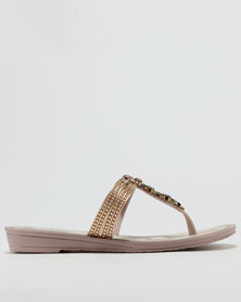 Grendha Ladies Casual Sandals Gold