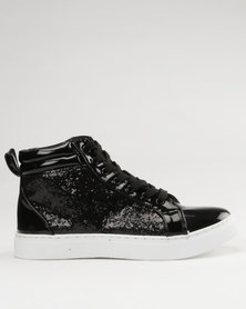 Soviet Amber Casual Lace Up High Top Sneaker Black