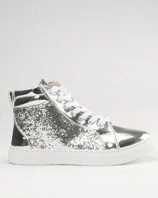 Soviet Amber Casual Lace Up High Top Sneaker Silver