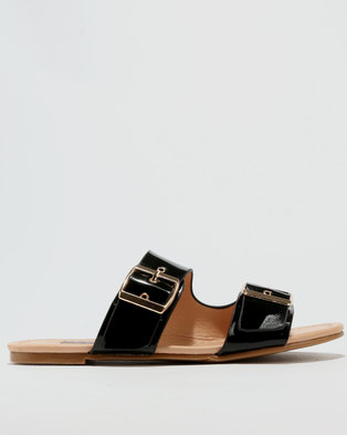 Utopia Double Buckle Sandal Black