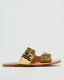 Utopia Double Buckle Sandal Gold