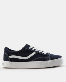 Soviet Mafadi Low Cut Canvas Two Tone Sneakers Imperial Blue