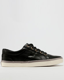 Soviet Soviet Ferguson Mens PU Low Cut Lace Up Sneakers Black purchase cheap price cheap sale sast cheap clearance shopping online free shipping sale online shUFXibNA