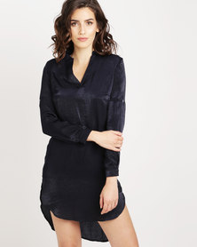 Utopia Hilo satin Shirt Navy