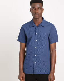 Sassoon Polka Dot Shirt Navy