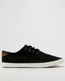 Soviet Anemone Mesh Low Cut Lace Up Sneakers Black