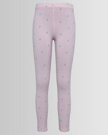 Polo Girls Sadie Printed Leggings Pink