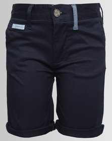Polo Boys Classic Flat Front Chino Shorts Navy