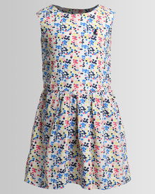 Polo Girls Sabrina Printed Party Dress Multi