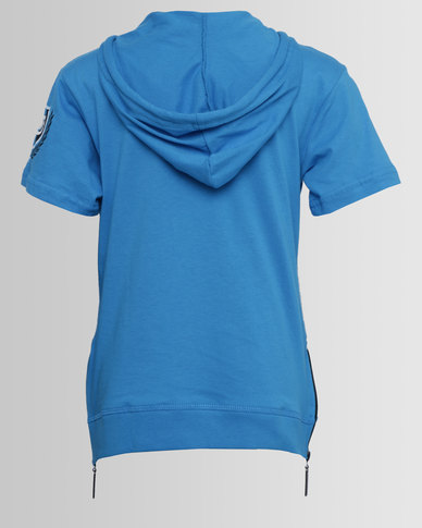 ECKÓ Unltd Boys Hooded SS Tee Blue