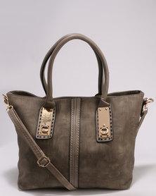 Utopia Panel Handbag Grey