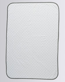 Parental Instinct Mosquito Repellant Baby Blanket White & Grey