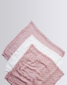 Parental Instinct Super Soft 100% Bamboo Massive Muslin Cloth White/Pink