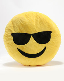 Emoji Cool Dude Cushion Yellow