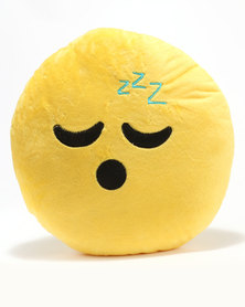 Emoji Sleeping ZZZ Cushion Yellow