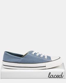 Converse Ladies Canvas Sneakers Blue