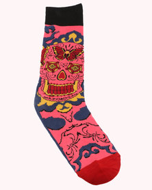 Happy Socks Megan Massacre Butterfly Skull Limited Edition Socks Multi