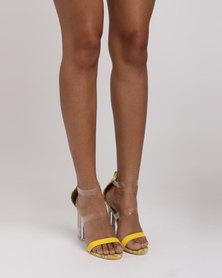 PLUM Pearl Heel Sandals Yellow