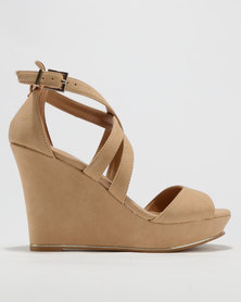Call It Spring Herde Wedge Sandals Nude