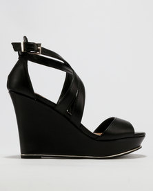 Call It Spring Herde Wedge Sandals Black