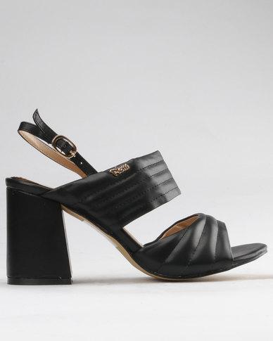 PLUM PLUM Lime Chunky Slingback Block Heels Black outlet marketable VP6fT2qQ