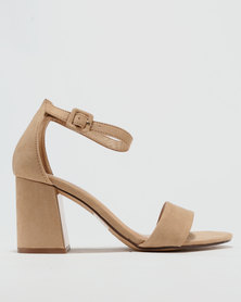 ZOOM Tasha Heeled Sandals Nude