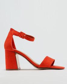 ZOOM Tasha Heeled Sandals Orange