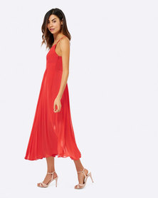 Forever New Livy Detailed Gown Dress Orange