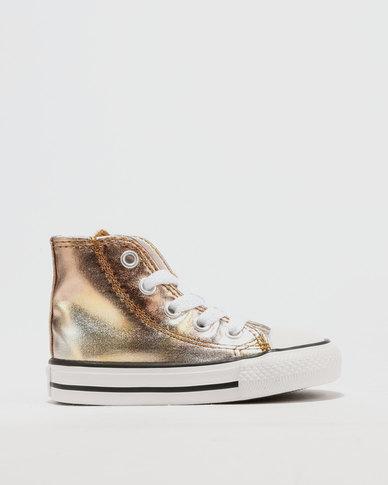 Converse Metallic Hi Top Sneaker Silver