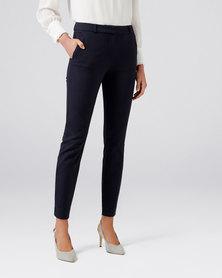 Forever New Grace Slim Pants Navy