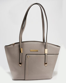 Blackcherry Bag Structured Tote Taupe
