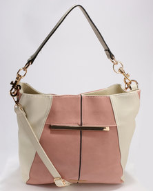 Blackcherry Bag Structured Tote Pink