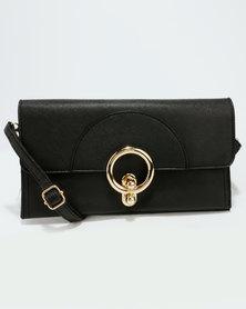 Blackcherry Bag Ladies Wallet Black