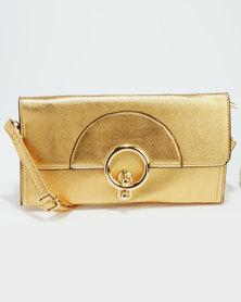 Blackcherry Bag Ladies Wallet Gold
