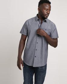 JCrew Printed Fancy Short Sleeve Shirt Blue/White