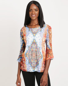 Cath Nic By Queenspark Moroccan Madness Knit Top Multicoloured