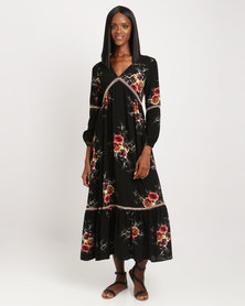 Miss Cassidy Gypsy Woven Dress Black