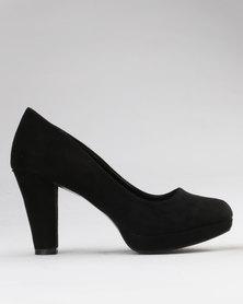 Bata Suede Mid Heel Black